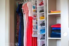 6 Tips for Organizing Your Closet. These are some of the best I've read for cleaning, thrifting, storing, and accessibility!