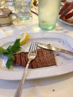 Bistecca con il prezzemolo e limone