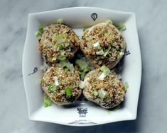 The Best (Vegan) Stuffed Mushrooms Ever! Vegan Apps, Delicious Vegan Recipes, Vegan Foods, Vegan Dishes, Raw Food Recipes, Vegan Vegetarian, Vegetarian Recipes, Healthy Recipes, Gf Recipes