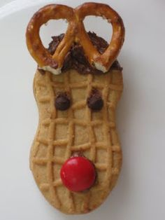 Rudolph Cookies! I'm thinking this for Kevin's snack of the month... @Alice Cartee Cassano
