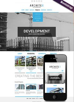 Build and construct website template