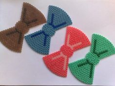 Bows hama perler beads