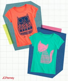 Grab a graphic tee to add to your kid's school style! Pair it with denim or bright colored pants for a fun and versatile wardrobe piece.