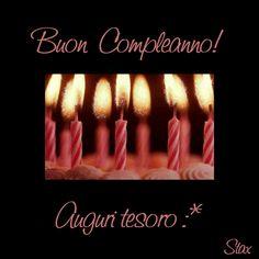 Buon Compleanno! Auguri tesoro