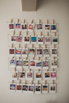 Polaroid photo wall