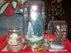 Writing in the Blackberry Patch: Mason Jar Snow Globes
