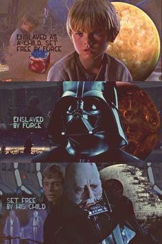 Anakin Skywalker was a slave, became a jedi, turned to the dark side but in the end chose love and to let Luke (his son) live. Anakin Skywalker was a slave, became a jedi, turned to the dark side but in the end chose love and to let Luke (his son) live. Anakin Skywalker, Anakin Vader, Darth Vader, Star Wars Quotes, Star Wars Humor, Star Wars I, Heros Disney, Saga, Pixar