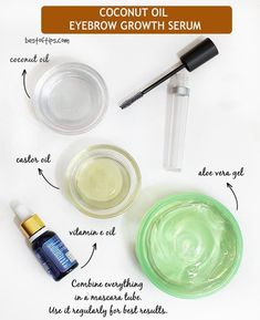 DIY NATURAL SERUM FOR THICKER EYEBROWS - BestOfTips I am here today with a very simple yet effective DIY! Girls with thinner or sparse brows, this DIY will turn the tables for you! Patience is a virtue but when it comes to waiting for your eyebrows to Coconut Oil Eyebrows, Eyebrow Serum, Eyebrow Tips, Eyeliner, Eyelash Growth Serum, Diy Eyebrow Growth Serum, Thick Eyebrows, Grow Thicker Eyebrows, Grow Eyelashes