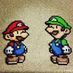 Mario and Luigi hama beads by perlpop