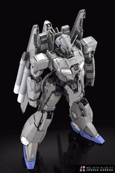 "From the modeler. Adapted from his FB-album - ""I'm ridiculously proud to present my MG Zeta Plus Oh gosh what a journey. Gundam Custom Build, Gunpla Custom, Gundam Art, Gundam Model, Mobile Suit, Grey Paint, Tamiya, Blender 3d, Scale Model"