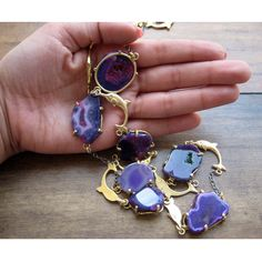 Agate Slice/Statement Necklace/Agate Druzy by FootSoles on Etsy, $89.90