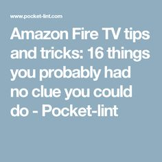 Get more from your Fire TV device with our tips and tricks. Kodi Amazon Fire, Amazon Fire Stick, Watch Tv For Free, Amazon Prime Tv, Tv Hacks, Tv Connect, Amazon Hacks, Make Money On Amazon, Technology Hacks