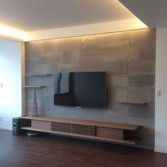 34 ideas for decor salon tv stands Tv Unit Decor, Tv Wall Decor, Tv Cabinet Design, Tv Wall Design, Hall Interior, Home Interior Design, Deco Tv, Tv Wanddekor, Tv Wall Cabinets