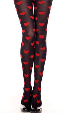 Heart Valentine Tights