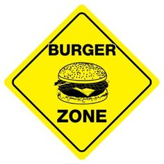 Brand New Novelty Sign Diamond Shape Sign. The sign has mounting hole for easy mounting and rounded corners. Funny Burger, Burger Mania, Hamburgers, Waffle, Sign, Red, Poster, Instagram, Snack Bar