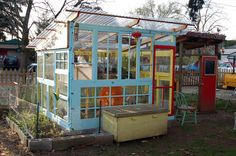 Now this is a cool idea for a green house, probably affordable too!