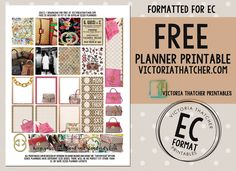 Free Printable Gucci Planner Stickers from Victoria Thatcher Planner Tips, Free Planner, Happy Planner, Printable Planner Stickers, Free Printable, Day Planners, Victoria Thatcher, Office Clipart, Heidi Swapp