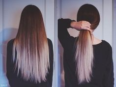 This light of blonde at about that placement. Some highlights throughout base leading into the purple ombre on top of the white blonde?
