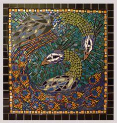 peacock mosaic by Amanda Gordon