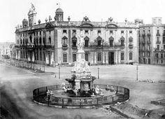 1877, Font del Geni Català i Antiga Aduana.