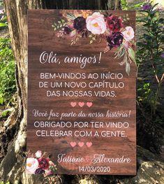 Placa Casamento Bem Vindos no Free Wedding, Wedding Day, Blue And Blush Wedding, Beach Wedding Favors, Wedding Souvenir, Decor Inspiration, Floating Flowers, Marry You, Marie