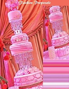 Wedding Cake Stand. This Diamond Princess Collection Is Dream For Any Bride Or Quinceanera It Has 2 Real Crystal Stands