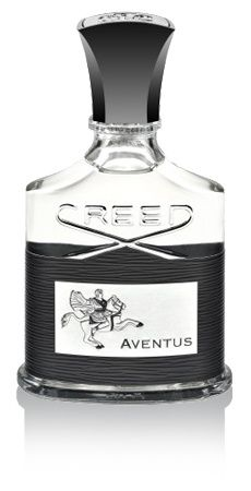 CREED Aventus for men.  Prepare to conquer with this powerhouse of energy and dynamism! Fantastic top notes inspire with a blast of pineapple, blackcurrant, apple and bergamot. The middle notes are bursting with peppery rose, birch, jasmine and patchouli, wonderfully woody, deep and heady. At the base is oakmoss, ambergris and a light dusting of vanilla which adds the finishing touch of virile sensuality.  http://www.creedfragrances.co.uk/products/fragrances-for-men/aventus
