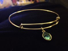 DIY - Alex and Ani wire bracelet with birthstone charm.  Made for less than $1.