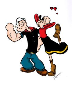 Image result for popeye and olive oyl gif