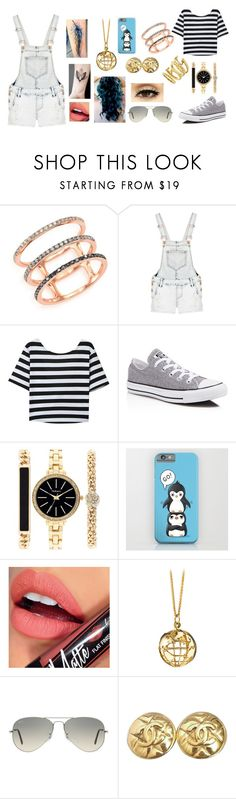 """""""Léna"""" by cri-bad on Polyvore featuring moda, EF Collection, Quiz, Converse, Style & Co., Fiebiger, Monica Rich Kosann, Ray-Ban, Chanel e Vince Camuto"""