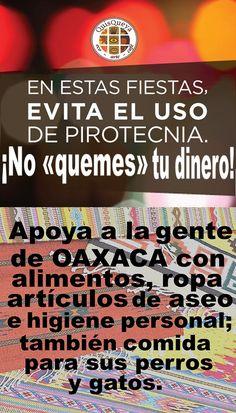 """De hoy jueves 14 al sábado 16 de septiembre, en QuisQueya eco-arte-café estaremos de paréntesis patrio 2017.  Evita el uso de pirotecnia. ¡No """"quemes"""" tu dinero! Apoya a la gente de Oaxaca con alimentos, ropa, artículos de aseo e higiene personal; también comida para sus perros y gatos."""