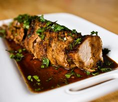 Grilled or Pan Roasted Pork Tenderloin in Honey Lime Chipotle Marinade