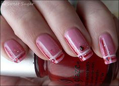 cute simple valentines nails