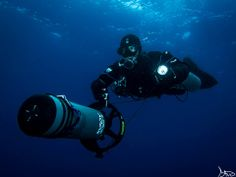 Sidemount Dpv in the blue Home Aquarium, Small Boats, Underwater World, Canary Islands, Scuba Diving, Deep Blue, Bubble, Ocean, Tools