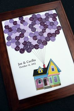 Cute Up-inspired alternative to the traditional guest book