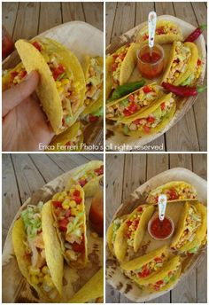Ricetta tradizionale tacos messicani Mexican Food Recipes, Vegan Recipes, Ethnic Recipes, Vegan Food, Mexican Chicken Tacos, Tex Mex, Finger Foods, Food Art, Cooking