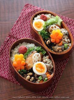 ** mana's Kitchen ** Japanese Lunch, Japanese Food, Bento Recipes, Healthy Recipes, Cute Food, Yummy Food, Kawaii Cooking, Sushi, Food Garnishes