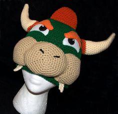 Super mario brothers bowser crochet hatbeanie my new addiction bowser beaniehatcap dt1010fo