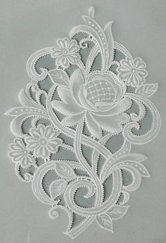 Parchment paper Craft, actually looks fun, creative. Machine Embroidery Designs, Embroidery Stitches, Embroidery Patterns, Silk Ribbon Embroidery, White Embroidery, Vellum Crafts, Parchment Design, Bordado Floral, Parchment Cards