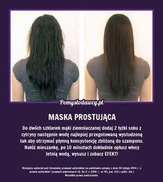 NIEZWYKŁY SPOSÓB NA PROSTE WŁOSY, KTÓREGO Z PEWNOŚCIĄ NIE ZNASZ! Diy Beauty, Beauty Hacks, Make Up Tricks, Ugly Faces, Hair Repair, Health And Beauty Tips, Natural Cosmetics, Grow Hair, Hair Hacks