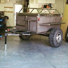 #expotrailer Truck Bed Trailer, Bug Out Trailer, Off Road Camper Trailer, Kayak Trailer, Trailer Diy, Trailer Build, Camper Caravan, Atv Trailers, Adventure Trailers