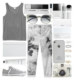 """""""Jeans"""" by soygabbie ❤ liked on Polyvore featuring Monki, Helmut by Helmut Lang, Converse, Lomography, River Island, Lord & Berry, NARS Cosmetics, Conair, Rodin Olio Lusso and Henri Bendel"""