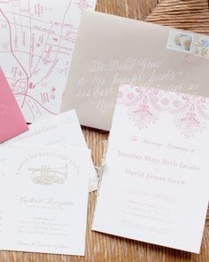 """See the """"Pretty in Pink"""" in our Invitations from Real Weddings gallery"""