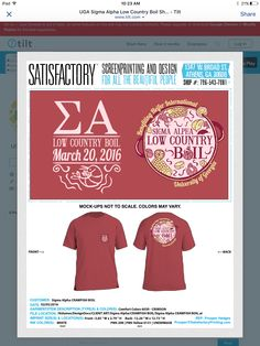Sigma alpha shirt on the Facebook tshirt swap page