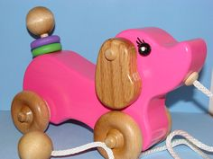 Wooden Puppy Dog Pull Toy By Darlingling On Etsy 44 50
