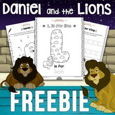 Daniel and the Lions Activity Pack [Beginners] | FREE download! Bible Activities For Kids, Bible Resources, Bible For Kids, Alphabet Activities, Free Activities, Puzzles For Kids, Kindergarten Activities, Sabbath School Lesson, Daniel And The Lions