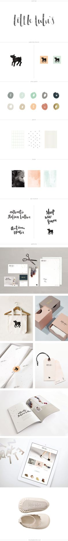 logo design and branding for italian leather baby shoes company little lulu's in sheffield