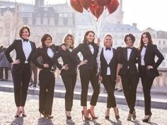 this would be perfect for the bachelorette party or just a cool photo-shoot for the bride and her maids