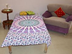Mandala Single Bedspread Hippie Gypsy Bed sheets Cotton Throw Table Cloth Decor | eBay