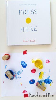 "Munchkins and Moms: ""Press Here"" Art Activity"